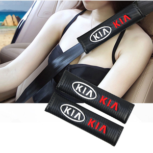 1 Juego de 2 fundas de cinturón de seguridad para coche, funda de cinturón de seguridad bordada, accesorios de coche para Citroen kia rio opel Dodge, diseño de coche inteligente