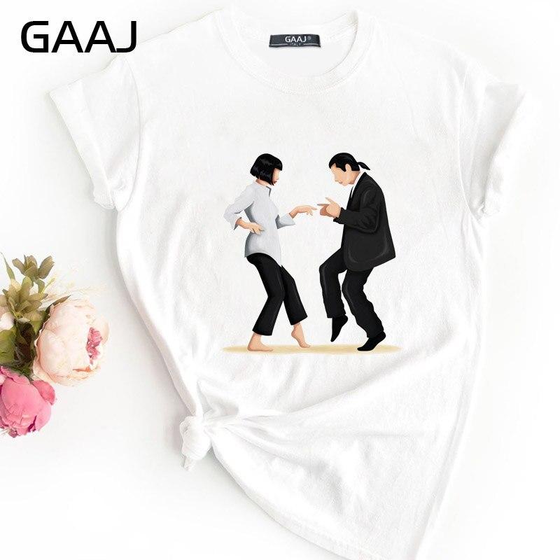 New Pulp Fiction Quentin Tarantino Fun T Shirt Women T-shirt  Fashion Print Graphic Tee Ulzzang Harajuku Streetwear TShirt Woman