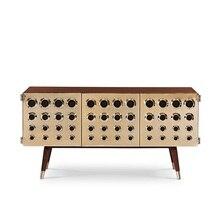 80cm de alto diseño de Italia Mesa consola con acero satinado Visual/Vintage Broadcast Radio inspirado tablero lateral