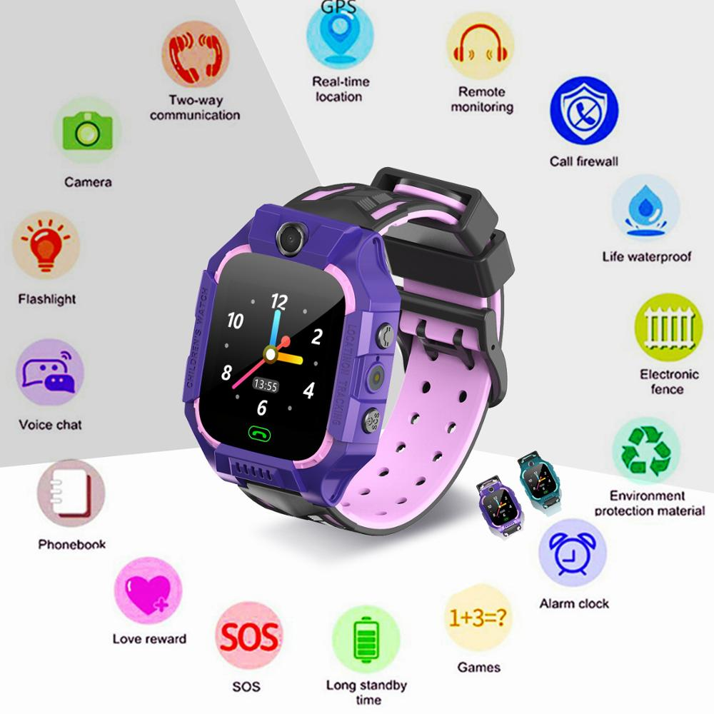 Kids Electronic Smart Watch Phone Connect SIM Card LBS GPS Tracker SOS Call Bracelet Smartwatch Clock New Year Gift for Boy Girl
