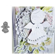 Crazyclown Angle Girl Stencil Metal Cutting Dies For Scrapbooking Practice Hands-on DIY Album Card Craft Decoration(China)