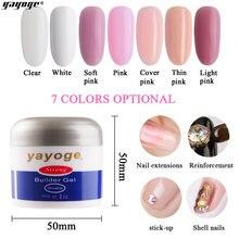 Yayoge 56/14 г гель для наращивания ногтей розовый кристалл