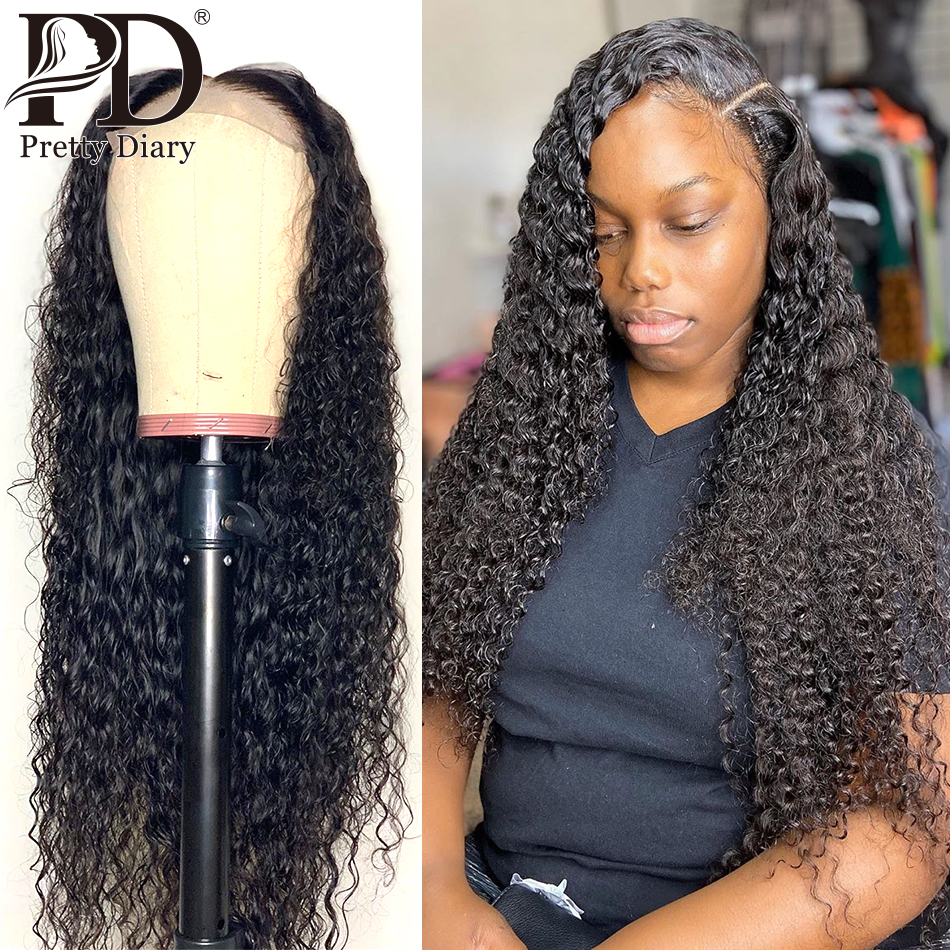 4x4 Closure Wig Curly Human Hair Wig For Black Women Deep Part Preplucked Lace Wig Brazilian Remy Lace Closure Wig