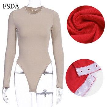 FSDA O Neck Long Sleeve Solid White Sexy Bodysuit Women Black Autumn Winter Body Top Gray Casual Lady Streetwear Bodysuits 10