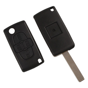 Image 5 - Araba yedek anahtar kabuk 4 düğme çevirme katlanır uzaktan anahtar kutu Fob kapak boş Blade için Peugeot 1007 Citroen C8