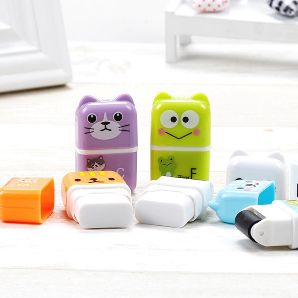 3Pc Roller Eraser Kawaii Cartoon Rubber Kawaii Students Stationery Material Escolar Kids Gifts School Office Correction Supplies