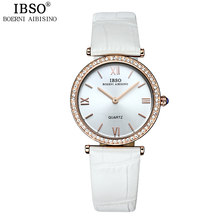 IBSO Brand Fashion Woman Watches Genuine Leather Strap Relojes M(China)