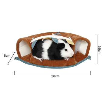 Small Pet Warm Tunnel Hammock Hanging Bed Ferret Rat Hamster Bird Squirrel Shed Cave Hut Hanging Cage Pet Birds Parrot Supplies 3
