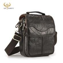 Original Leather Male Fashion Casual Tote Messenger bag Design Satchel Crossbody One Shoulder bag Tablet Pouch For Men 144
