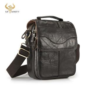 Image 1 - Original Leather Male Fashion Casual Tote Messenger bag Design Satchel Crossbody One Shoulder bag Tablet Pouch For Men 144