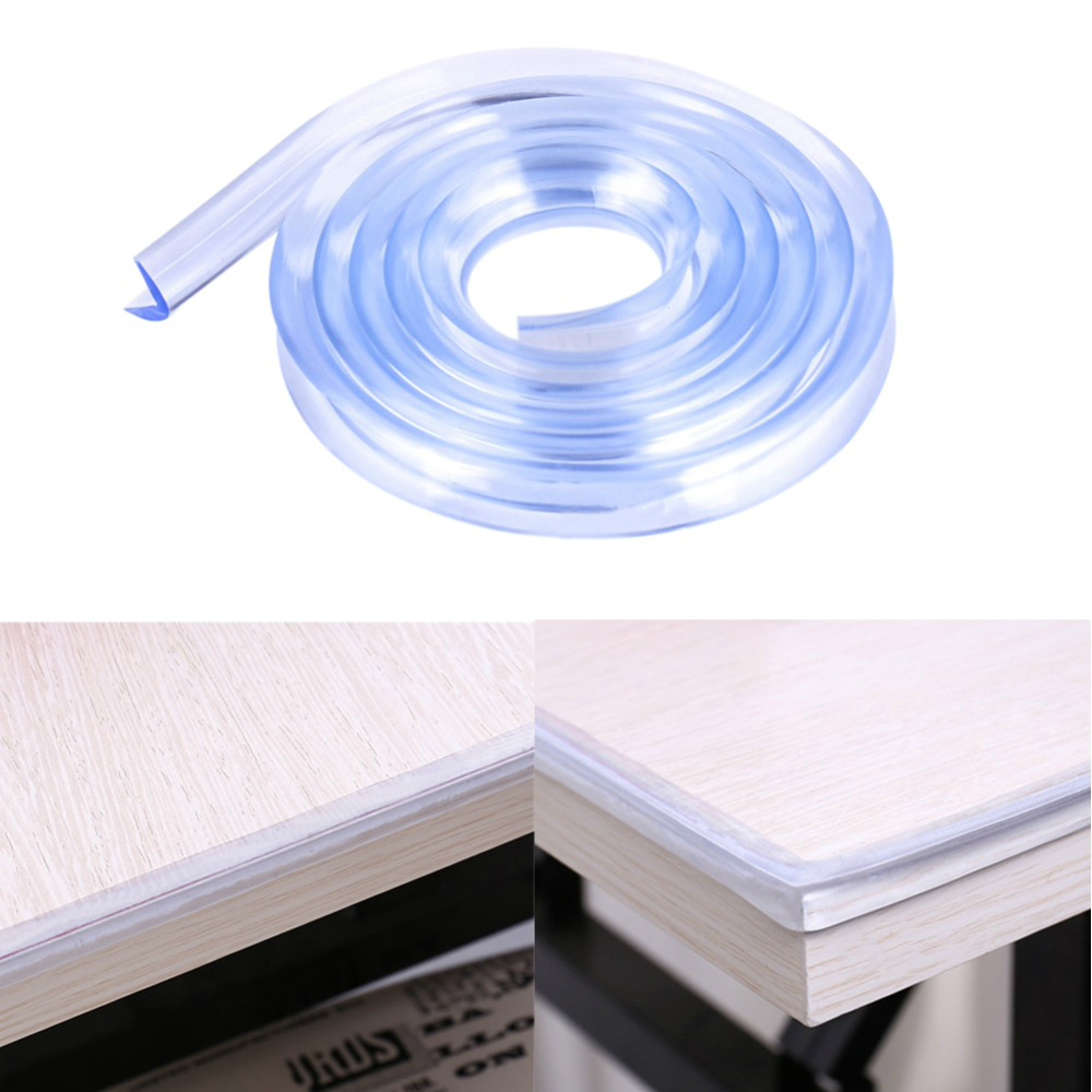 5Pcs PVC Elbow Plastic Safety Corner Furniture Desk Edge Cover Plastic Bumper