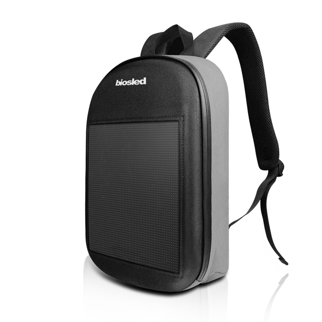 SOL LED écran affichage LED sac à dos bricolage sans fil Wifi APP contrôle publicité sac à dos en plein air LED marche panneau daffichage sac à dos