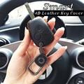 Бесплатная доставка 4D натуральная кожа автомобильный чехол для ключей умный 453 чехол для ключей пульт дистанционного управления брелок для...
