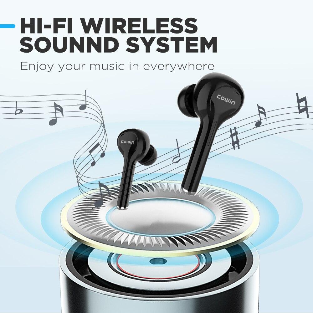 COWIN KY03 Bluetooth 5.0 Наушники TWS Спортивные беспроводные наушники водонепроницаемая мини-гарнитура с глубокими басами с зарядным устройством Микрофон для телефонов