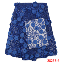 Чистая кружевная ткань французские кружева ткани высокого качества Тюль Французский Африканский кружевной ткани с 3D бисером и блестками KS2825B-6