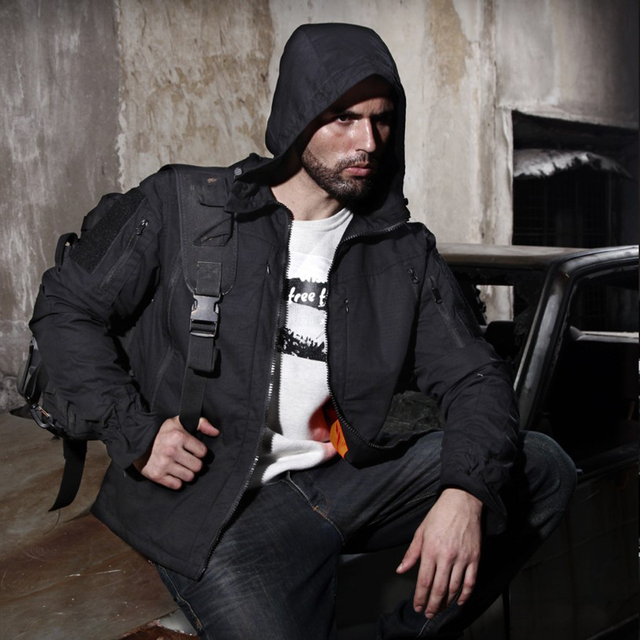 Army Military Jacket Equipment Airsoft Paintball Hunting Clothes Combat Tactical Jacket Homme Men 4