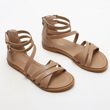 2021 summer new ladies casual sandals fine belt fairy style Roman shoes simple beach vacation open-toed flat shoes