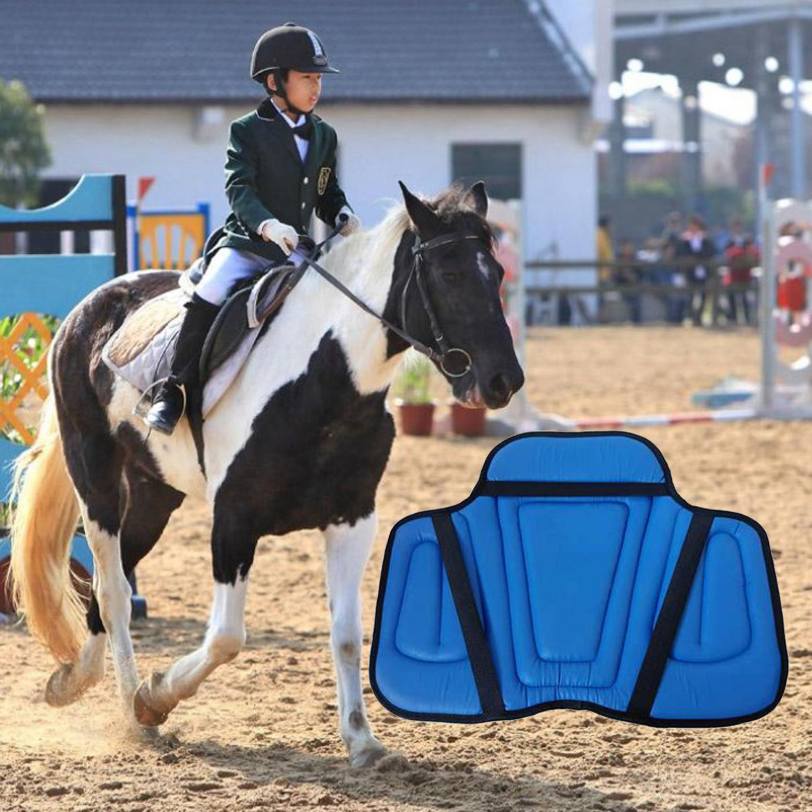 Horse Saddle Pad PU Outdoor Training Seat Cushion Horse Harness Seat Saddle Cushion Leather Pads Equipment Accessories
