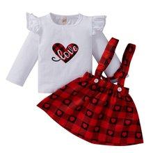 Комплект из 2 предметов для маленьких девочек топ с сердечком