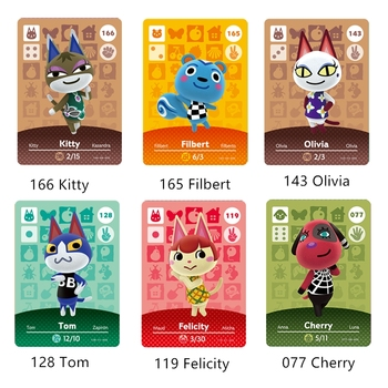 Animal Crossing Popularity Villager Cherry Felicity Tom Olivia Filbert ACNH NFC Game Card NS Switch Wii U Free Shipping image