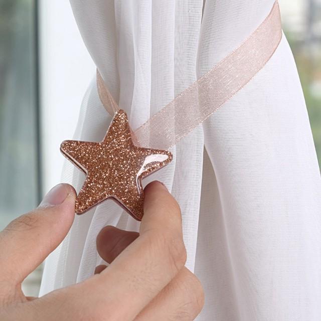 Star Shape Magnet Curtain Buckle 2