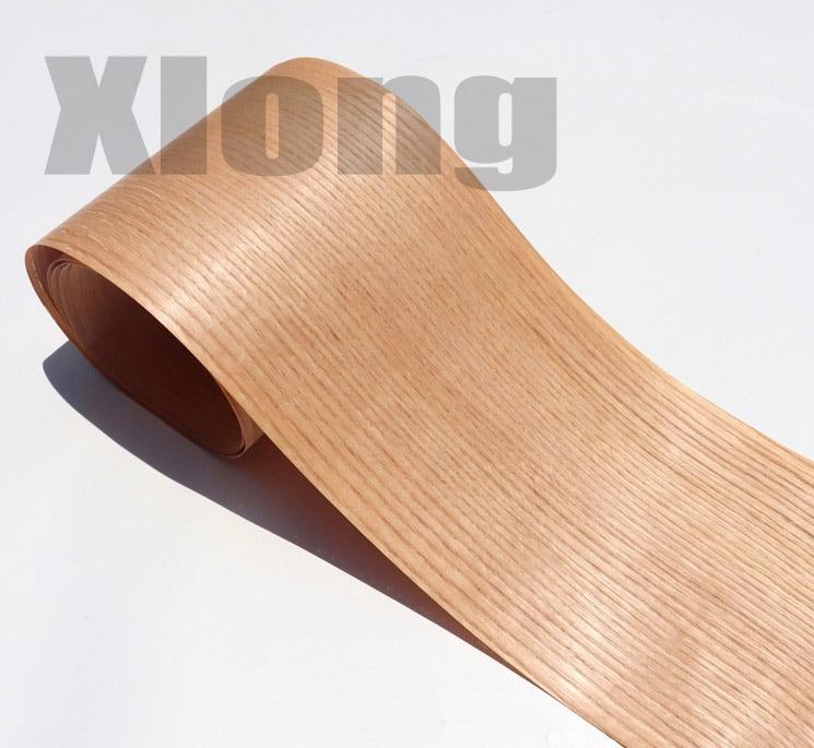 2Pieces/Lot Length:2.5Meters Width:18mm Natural Red Oak Straight-grain Oak Bark Wood Veneer