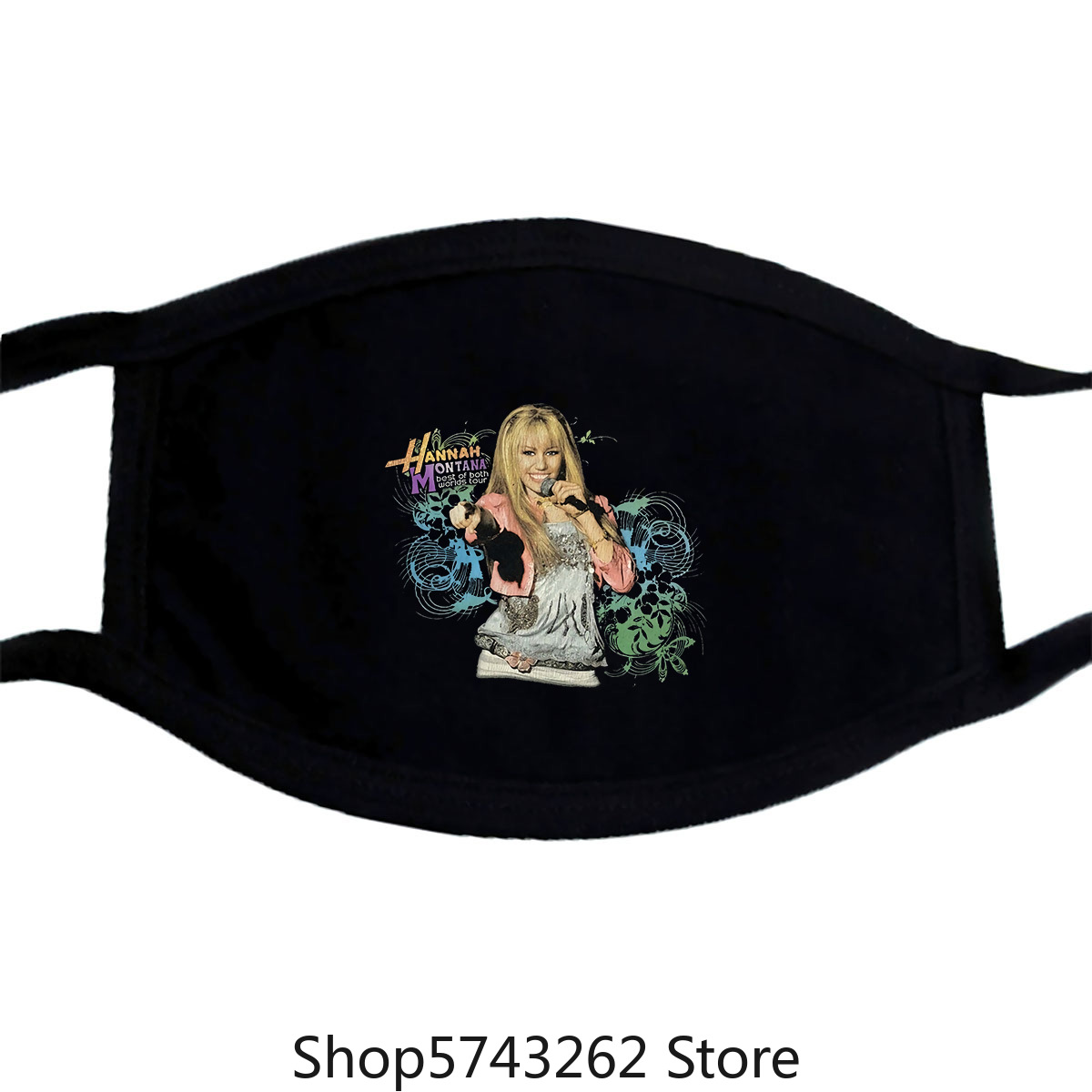 Hannah Montana Miley Cyrus Best Of Both Worlds Tour Mask Vintage 00S Small Washable Reusable Mask With
