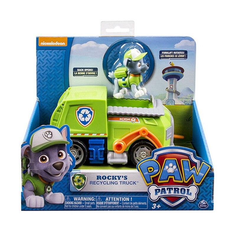 С принтом из мультфильма «Щенячий патруль набор игрушек для Everest трекер фигурку собаки из мультфильма «Щенячий патруль» для дня рождения с рисунком из аниме Рисунок патруль Paw patrulla canina, игрушка в подарок - Цвет: rocky