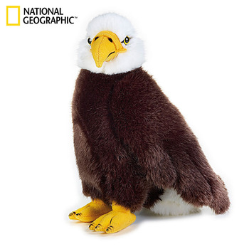 "National Geographic North America 10.5"" Eagle Soft Plushie Eagle Simulation Plush Animals Plush Toy Adult Children Friends Gifts"