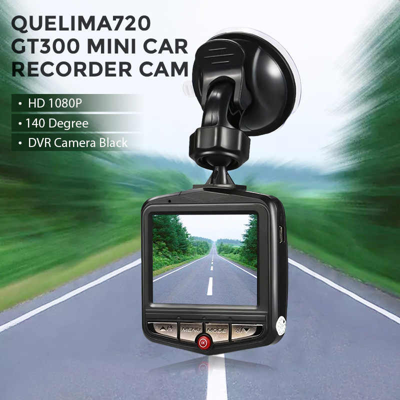 Mini DVRs Car DVR GT300 Cámara videocámara 1080P Full HD Video registrador 140 grados aparcamiento grabadora bucle grabación Dash Cam
