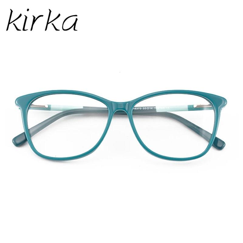 Image 2 - Kirka óculos frame feminino vintage senhora óculos quadro lente clara óculos de leitura óculos ópticos armação de prescrição feminino-in Armações de óculos from Acessórios da Moda on AliExpress