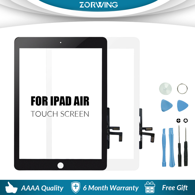 New For iPad Air 1 iPad 5 LCD Outer Touch Screen Digitizer Front Sensor Glass Display Touch Panel Replacement A1474 A1475 A1476 1