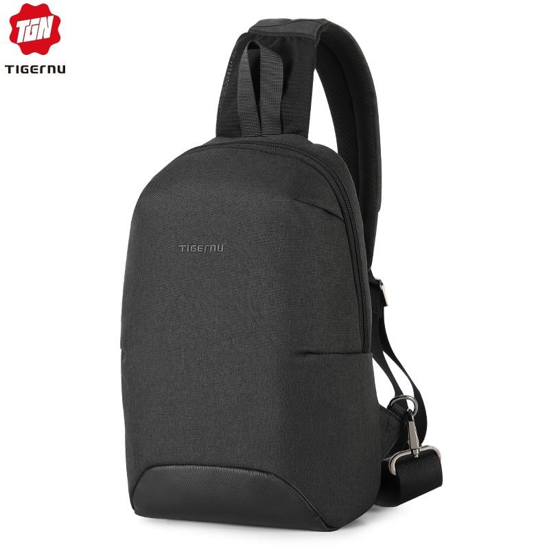 Tigernu Fashion RFID Crossbody Bag For 7.9 Inch Ipad Casual Men Chest Pack Unique Design Shoulder Bags Anti Theft Back Bag