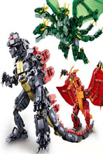 New Japan Anime movie Godzilla & Quidola compatible Legoed  Model Building Blocks Bricks Toys Educational DIY Kids Gifts