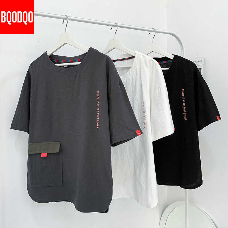 Hip Hop Divertente T Camicette Uomini Harajuku 5XL Manica Corta O-Collo T Camicette Giapponese Più la maglietta di Formato Maschio di Modo allentato Casual Magliette