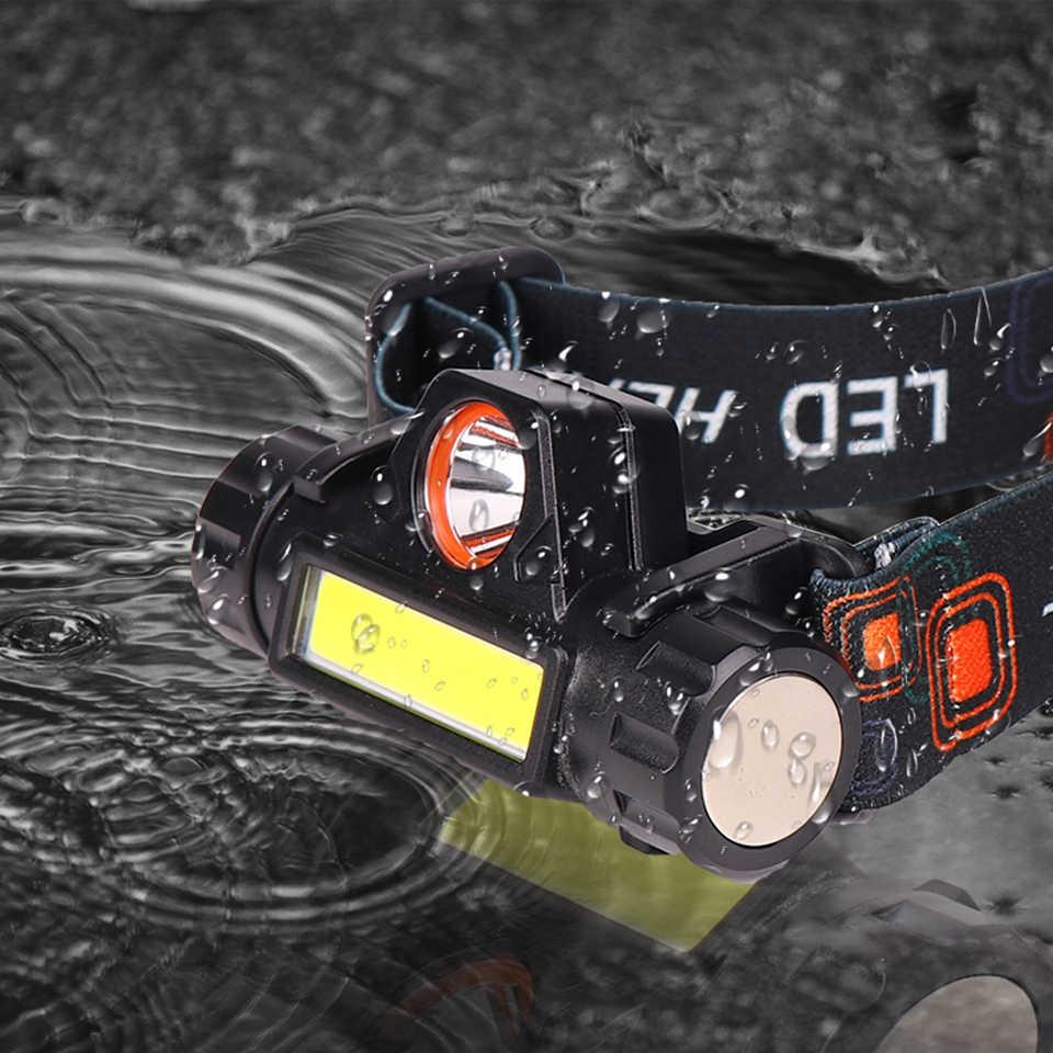 XPE + COB Tragbare mini LED Scheinwerfer Gebaut-in USB Rechargable 18650 Batterie mit Magnet Taschenlampe Camping Wandern Nacht angeln Licht