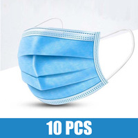 10pcs Face Mouth Anti Mask Disposable Protect 3 Layers Filter Dustproof Earloop Non Woven Mouth Masks 48 hours Shipping Computers, Tablets & Networking