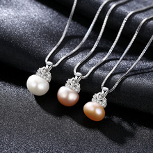 S925 Pure Silver Crown Pendant with AAA Zircon 90-95 Steamed Bread Bead Elegant Necklace for Women Jewelry