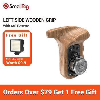 SmallRig Left Side Wooden Grip with Arri Rosette For DSLR Camera Handle Adjustable Quick Release - 1891