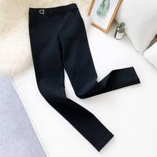 AcFirst Autumn Winter Women Fashion Black Long Pants Pencil Pants High Waist Full Length Female Pants Formal Office Style