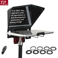 Desview Portable Teleprompter For Smartphone/Tablet/DSLR Camera For YouTube Interview Studio Bestview T2 With Remote Control