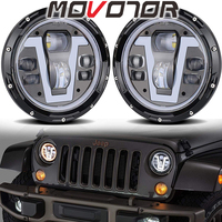 7inch Round Led Headlights For Lada 4x4 urban Niva suzuki samurai 12v 24v 50W Led Lights For Jeep Wrangler Toyota Hummer H1 Cars