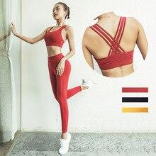 Solid High Waist Sport Suit Women Fitness Yoga Set Jogging Training Costume Running Top+Legging Sportswear