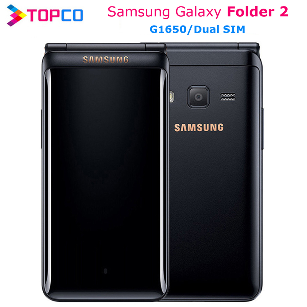 Samsung Galaxy Folder 2 Original 2-G1650 16GB 2GB WCDMA/GSM/CDMA Qwerty keyboard/Wi-fi/Bluetooth/.. title=