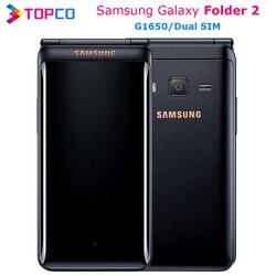 Оригинал, Samsung Galaxy папка 2 G1650 Dual SIM 16 Гб встроенной памяти, 2 Гб оперативной памяти Quad Core 8.0MP 3,8