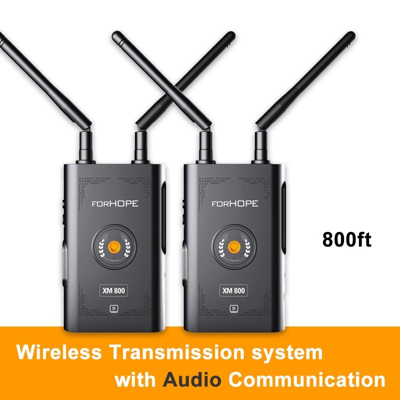 XM800 800 футов Беспроводная система передачи с аудио связью Двойной HDMI Поддержка iPad планшет телефон Мониторинг для Live