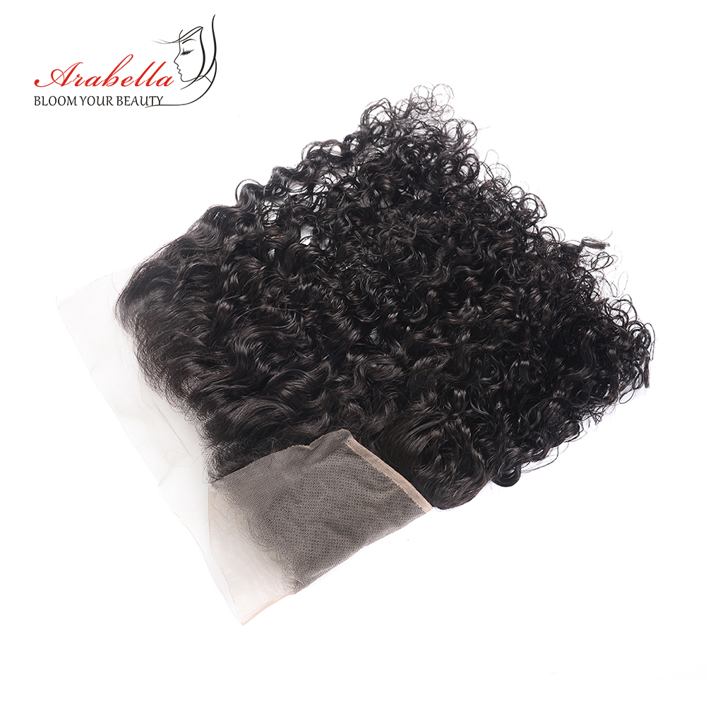 Curly Lace Frontal Hair 13*4   Arabella Pre Plucked Bleached Knots Lace Frontal Closure Curly 4