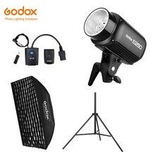 Godox E250 250Ws Фотостудия вспышка стробоскоп свет+ 50x70 см сотовый жир+ 180 см осветительная стойка+ AT-16 ТРИГГЕРНАЯ вспышка