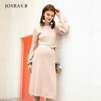 Pregnant Women Dress Sweater Skirt Spring And Autumn Maternity Dress Slim Shirt Winter Knit Skirt Pregnant Dress JOYRAY.B
