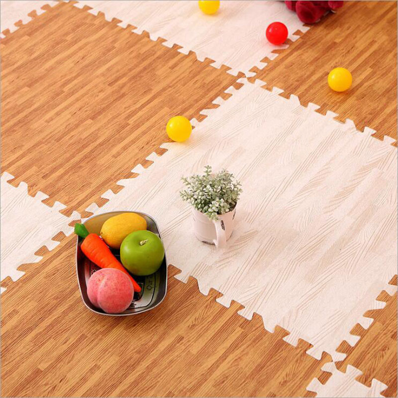 Tapis de sol en mousse de Grain de bois automne et hiver tapis chauffant sous le sol tapis d'escalade Puzzle tapis de Joint dortoir plancher caboteur